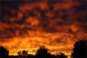 Burning October Skies