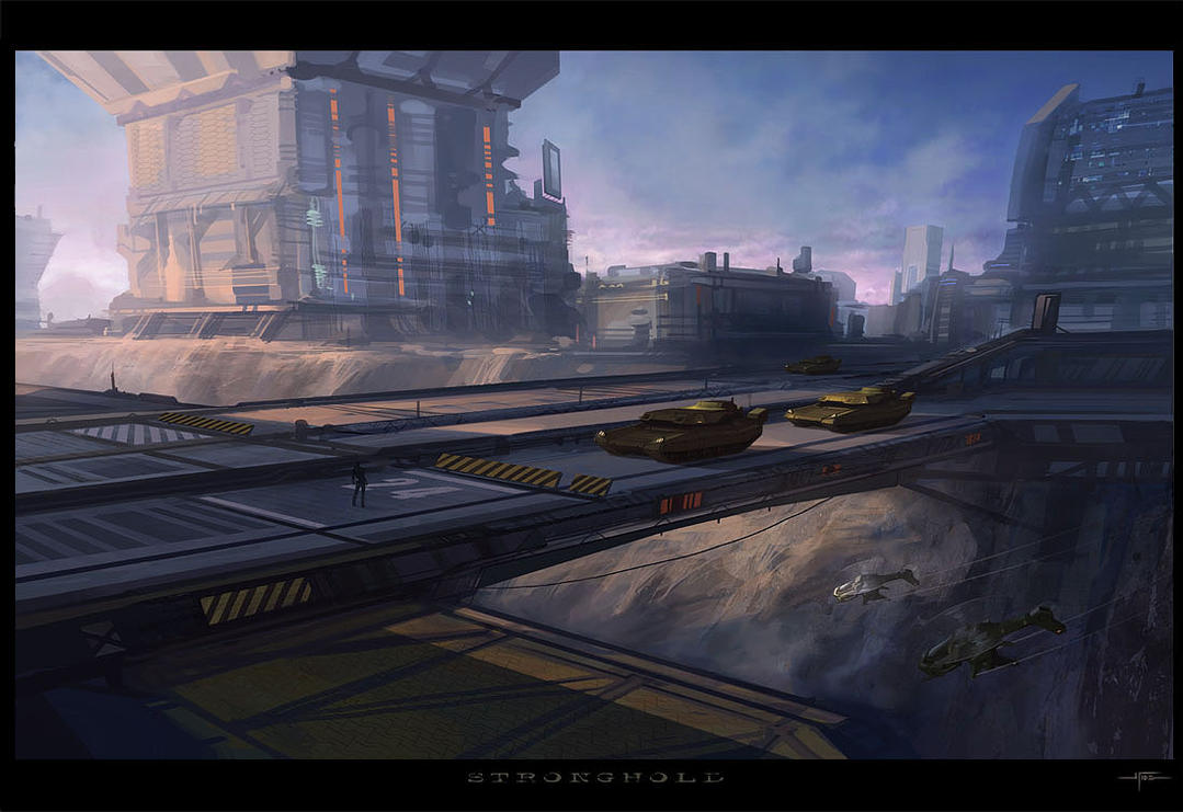 Sci Fi Stronghold : Stronghold by hideyoshi on deviantart