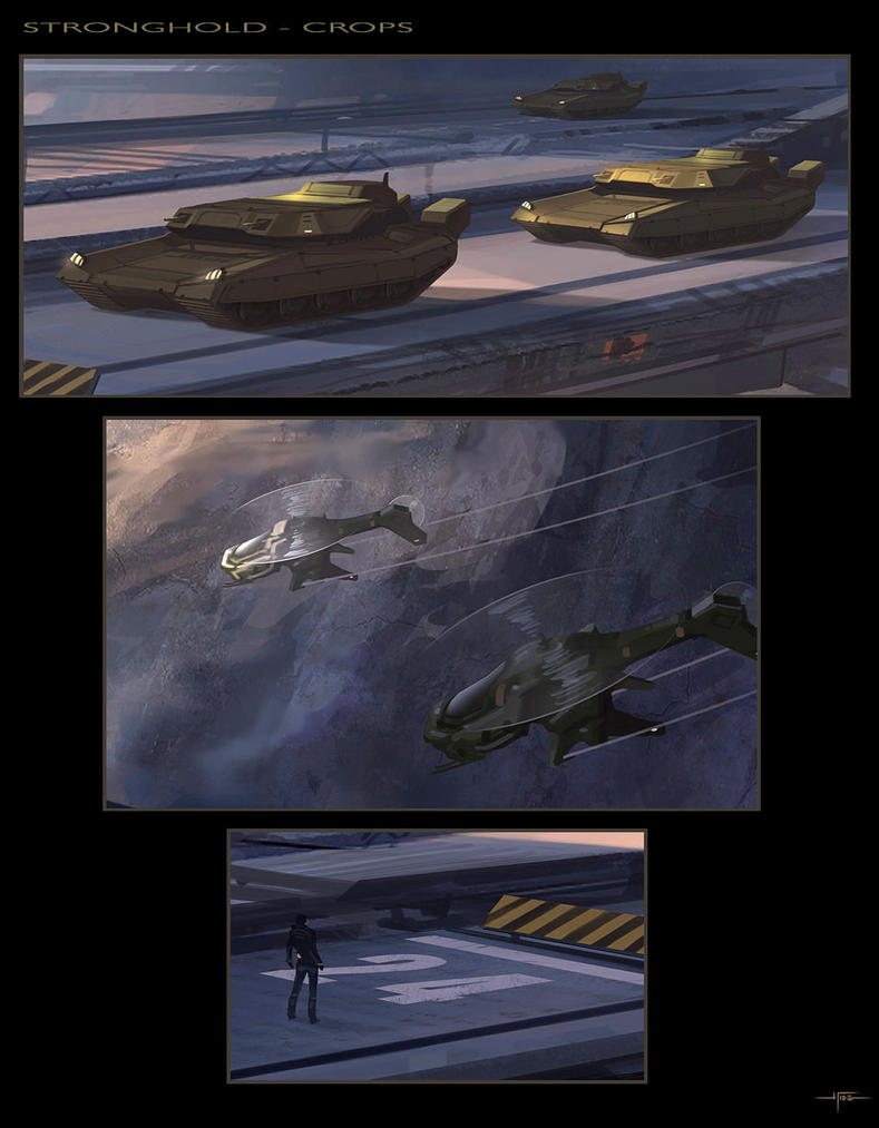 Sci Fi Stronghold : Stronghold crops by hideyoshi on deviantart