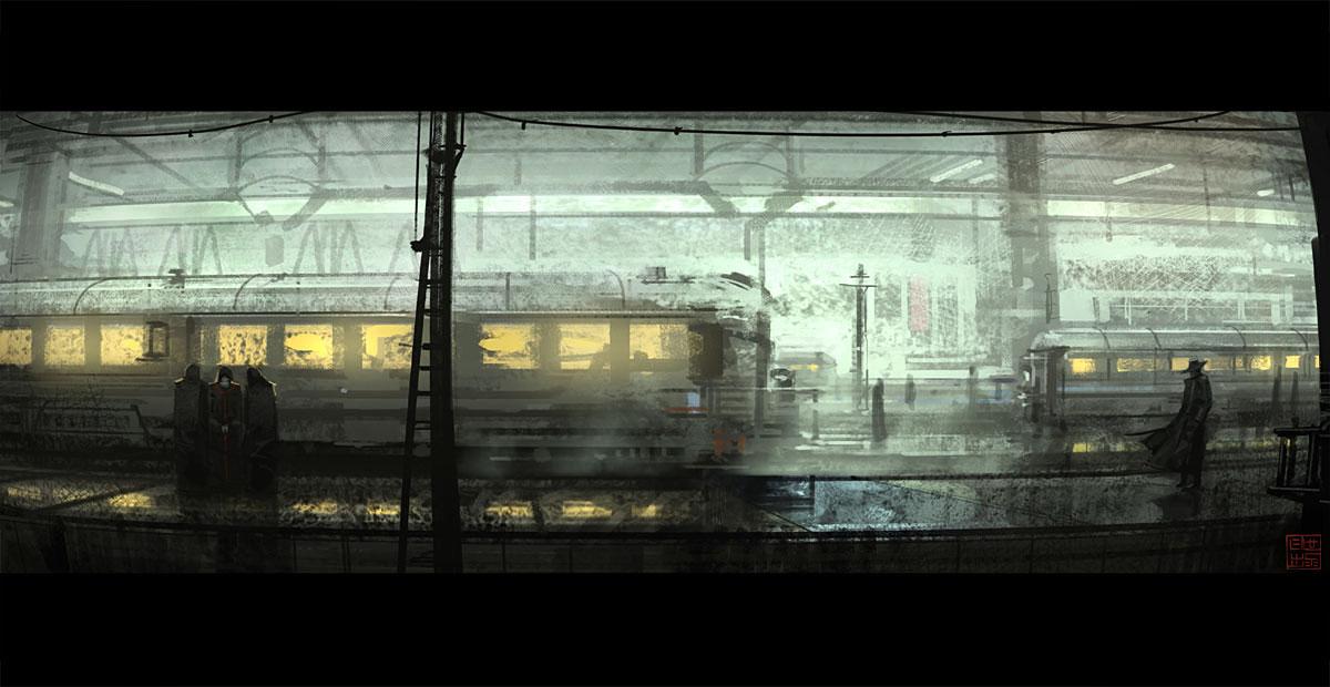 Train Station by hideyoshi