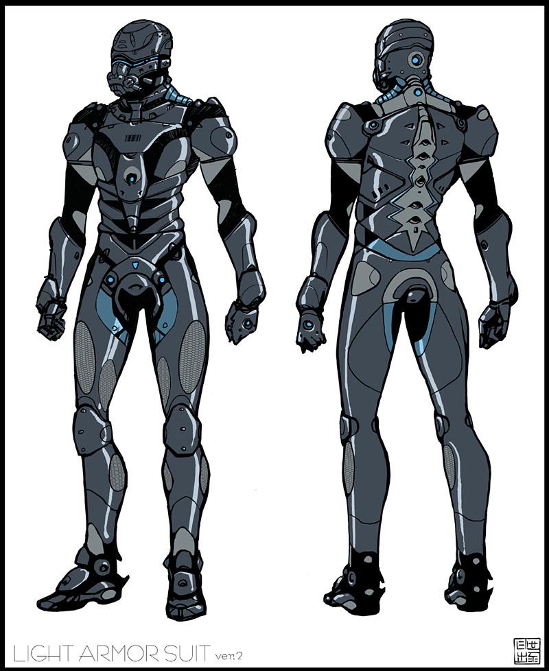 Futuristic Light Body Armor images