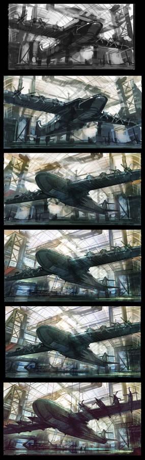 Hyper G One - hangar steps
