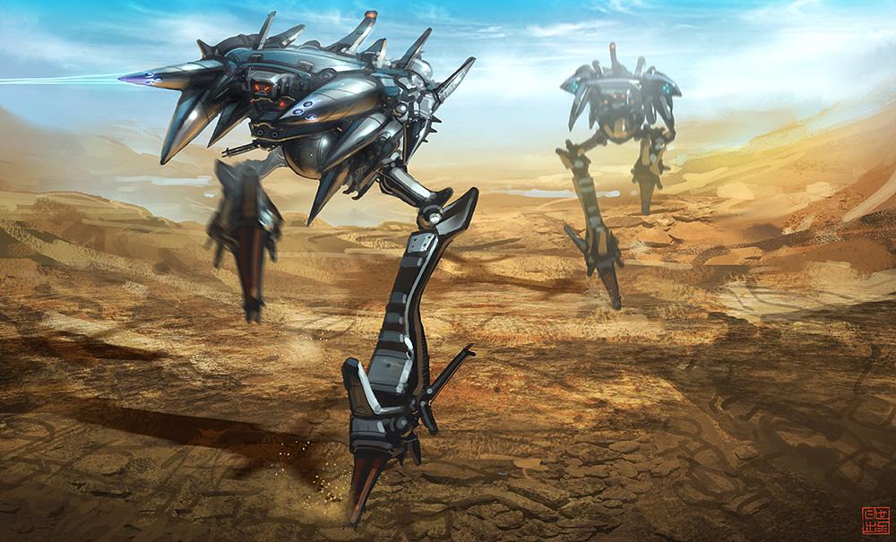 Hyper G One - Alien Walkers by Hideyoshi