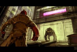 Hellboy by Hideyoshi