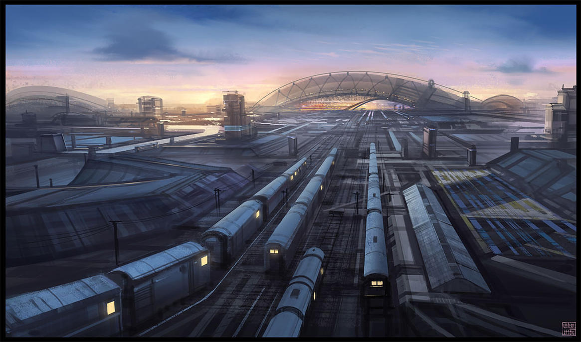 Station dusk by Hideyoshi