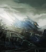 Spaceship Crashsite by Hideyoshi