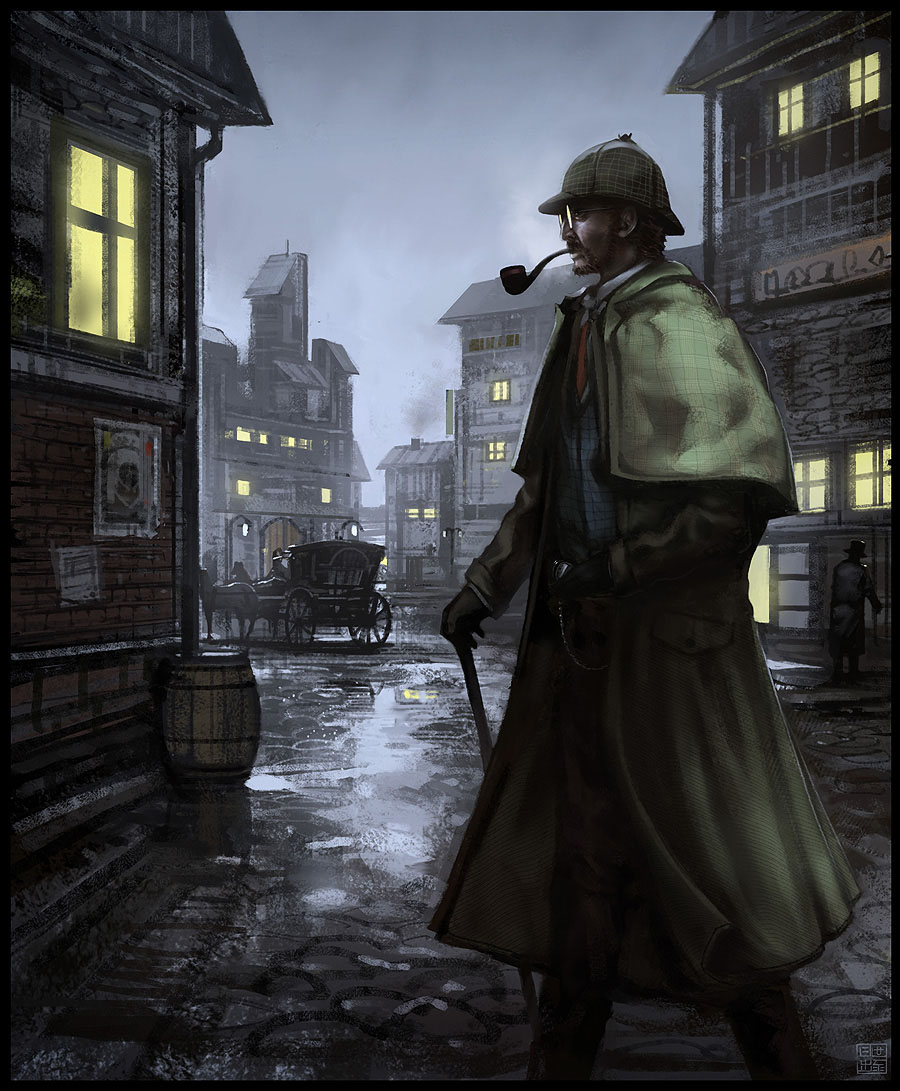 La capa española Sherlock_Holmes_by_Hideyoshi