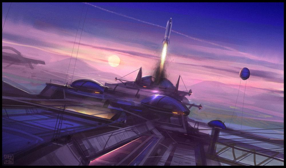Spaceport by Hideyoshi