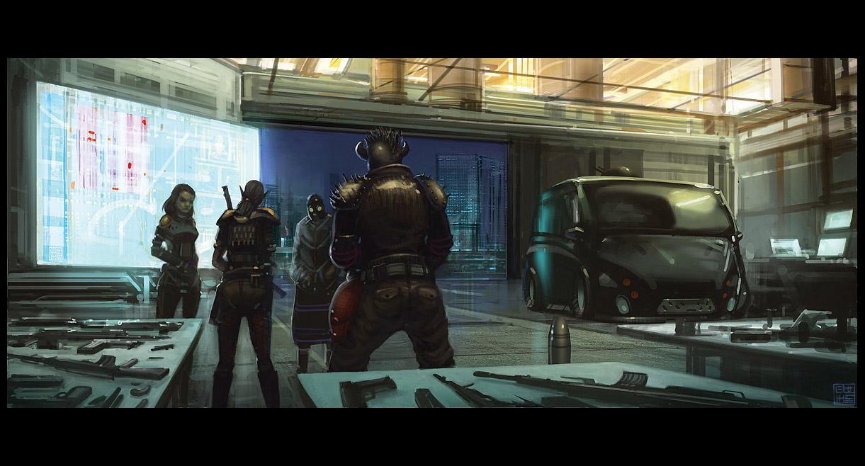 Shadowrun - Gearing Up by Hideyoshi