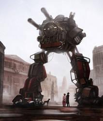 SteamJunk Mecha by Hideyoshi