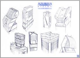 Azureus Rising - Buildings by Hideyoshi