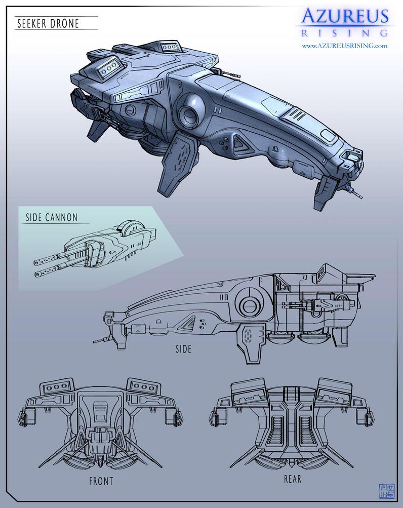 Azureus Rising - Seeker Drone by Hideyoshi