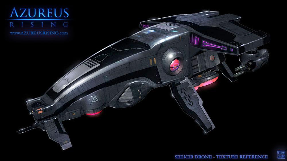 Azureus Rising - Seeker Drone2 by Hideyoshi