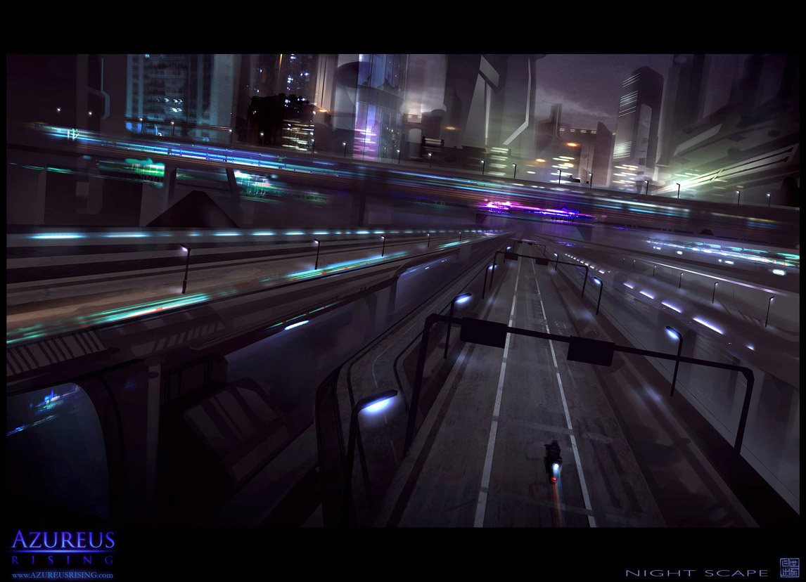 Azureus Rising - Night Scape 1 by Hideyoshi