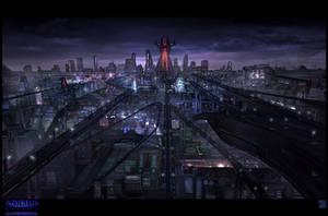 Azureus Rising - City Vista by Hideyoshi