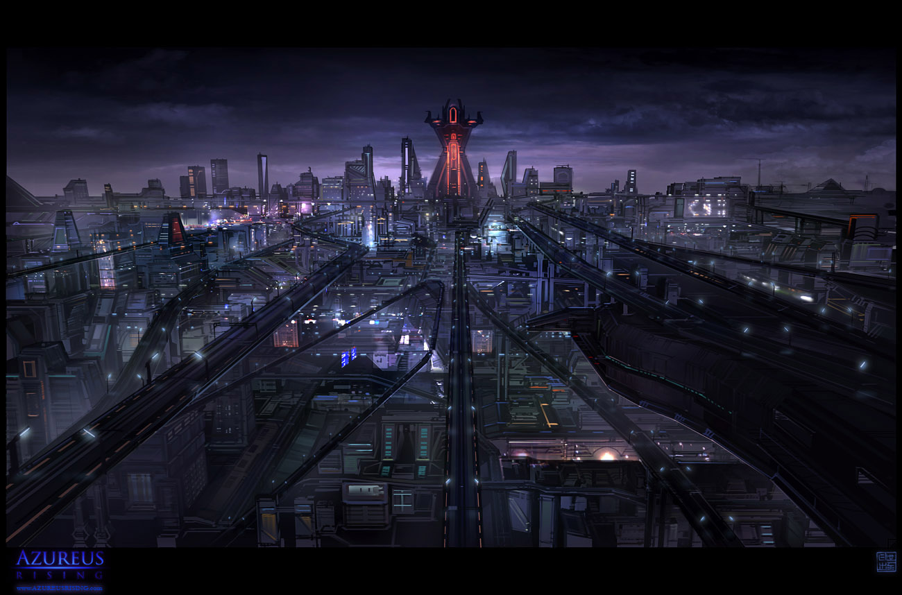 Azureus Rising - City Vista by Hideyoshi