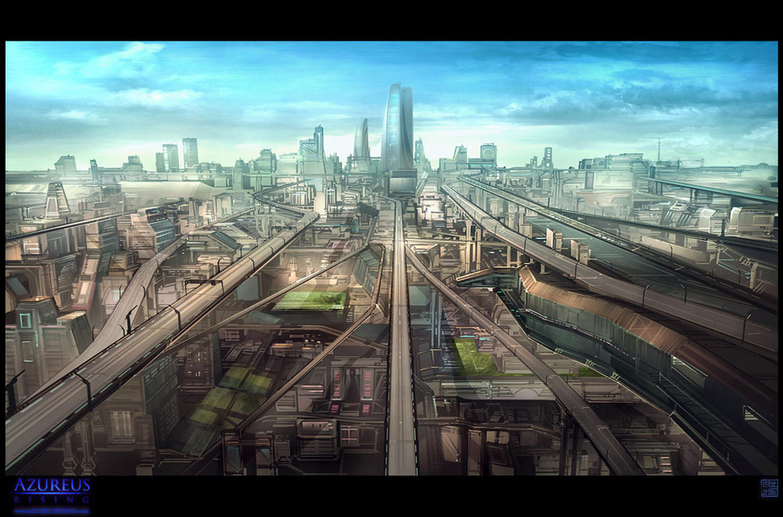 Azureus Rising - City Vista 2 by Hideyoshi
