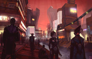 Eclipse Phase Martian Street by Hideyoshi