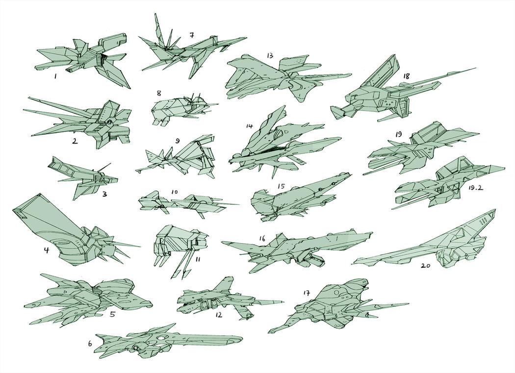Spaceship Thumbnails By Hideyoshi On Deviantart