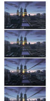 Metropolis steps by Hideyoshi
