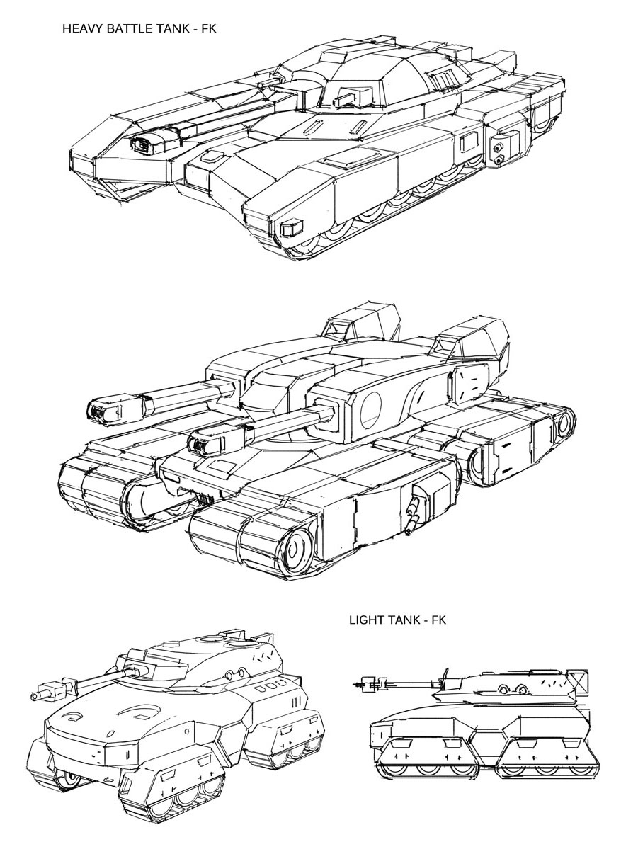 Space Vagabonds - FK Tanks by Hideyoshi