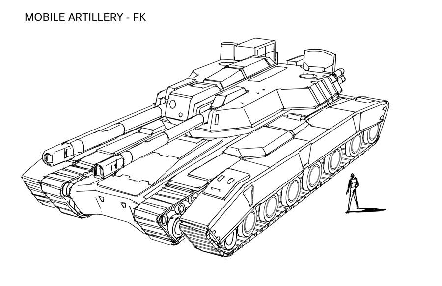 Space Vagabonds - FK Artillery by Hideyoshi