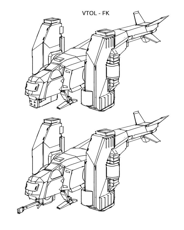 Space Vagabonds - FK VTOL by Hideyoshi