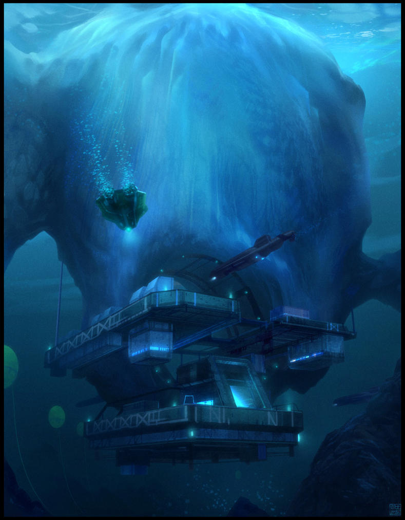 Iceberg Submarine Base by Hideyoshi