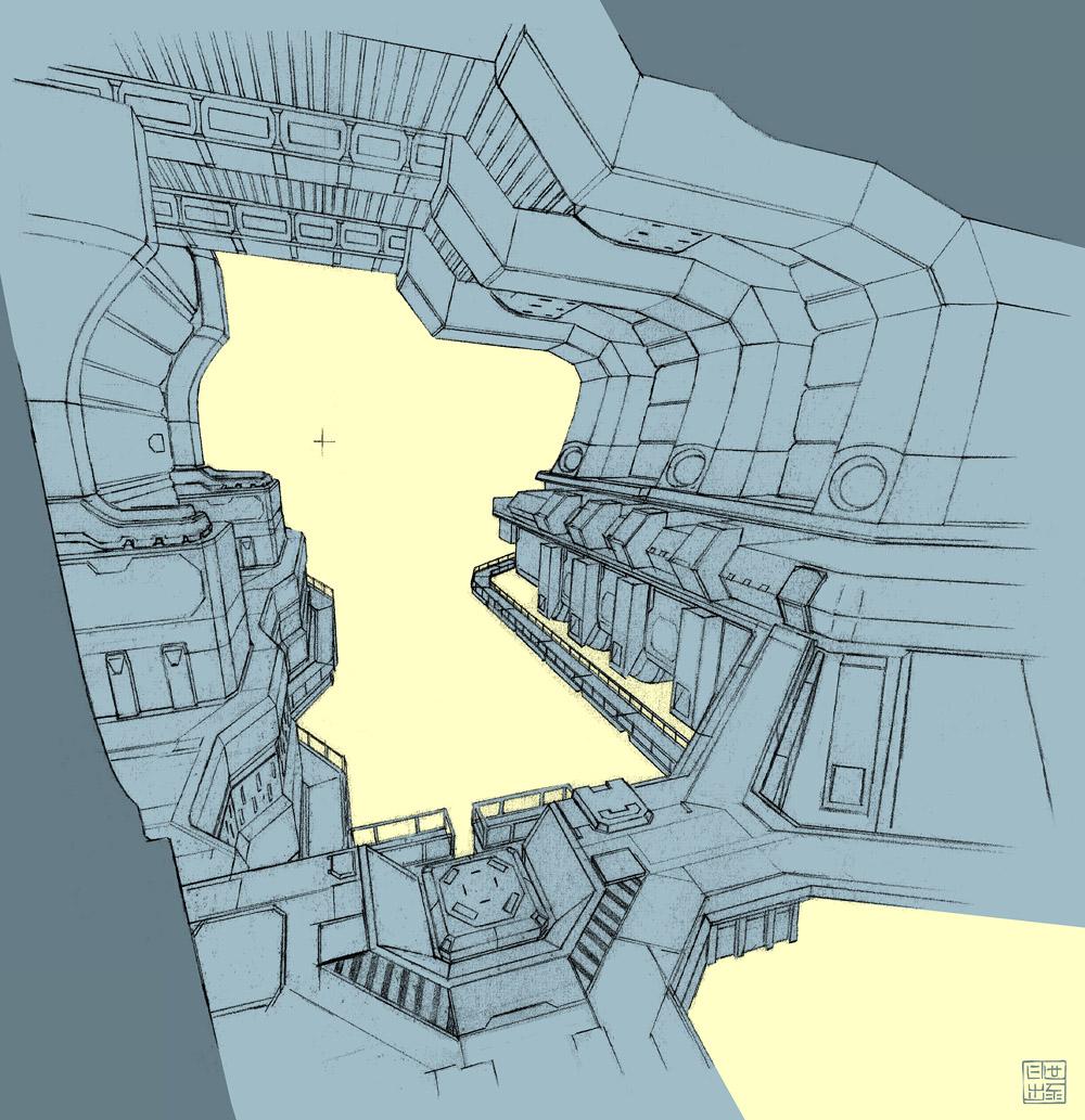 Sci-Fi Corridor by Hideyoshi