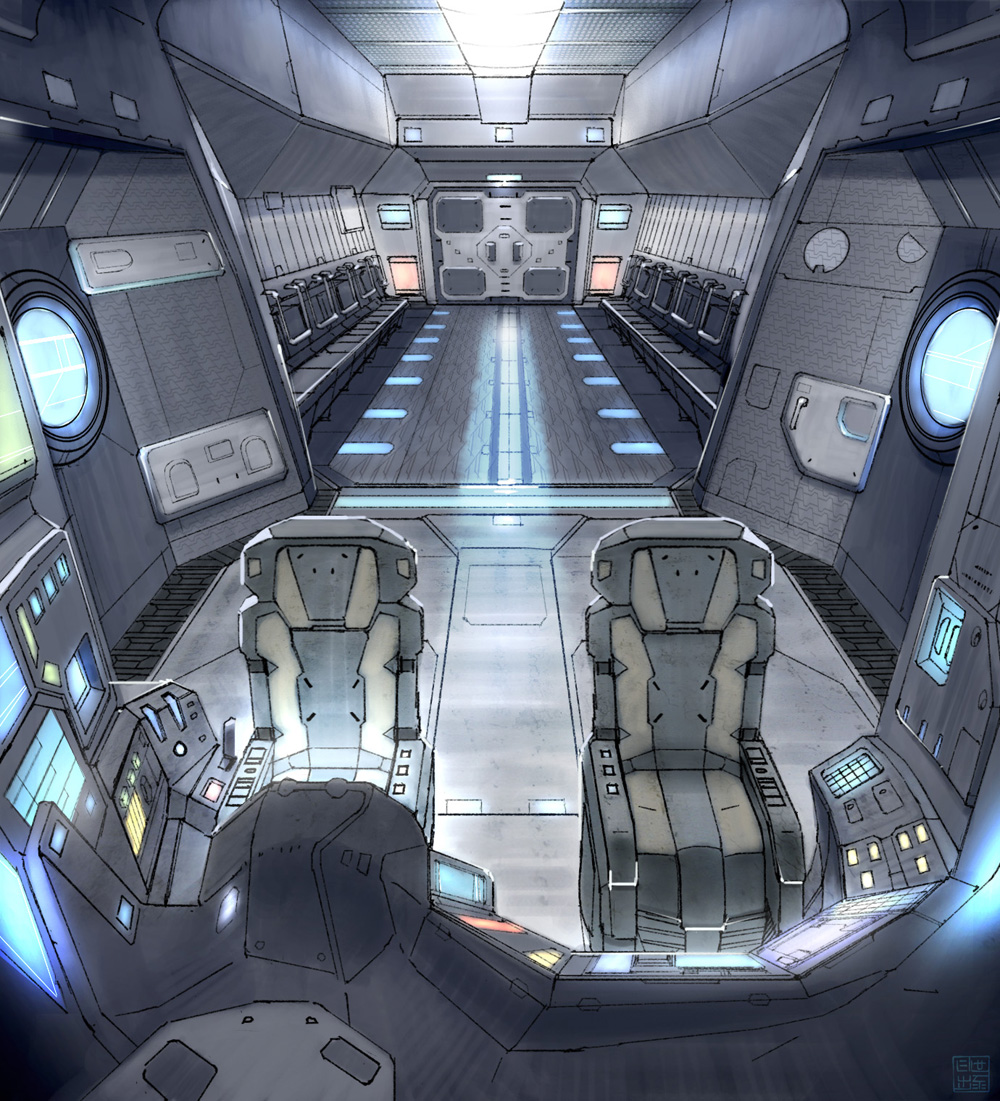 star fall drop ship interior by hideyoshi on deviantart. Black Bedroom Furniture Sets. Home Design Ideas
