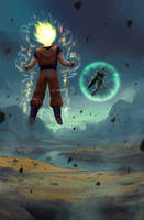 Dragon Ball - Goku vs Cell - PROCESS VIDEO by Hideyoshi