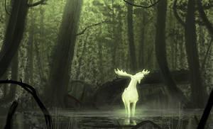 White Moose - Speedpainting Video by Hideyoshi