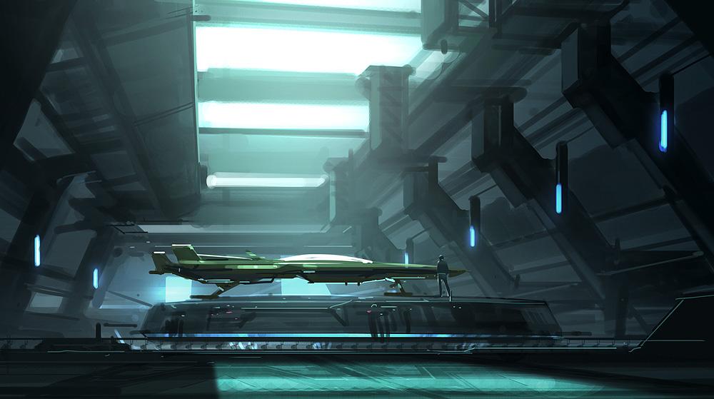 Hangar - Speed Paint Video by Hideyoshi