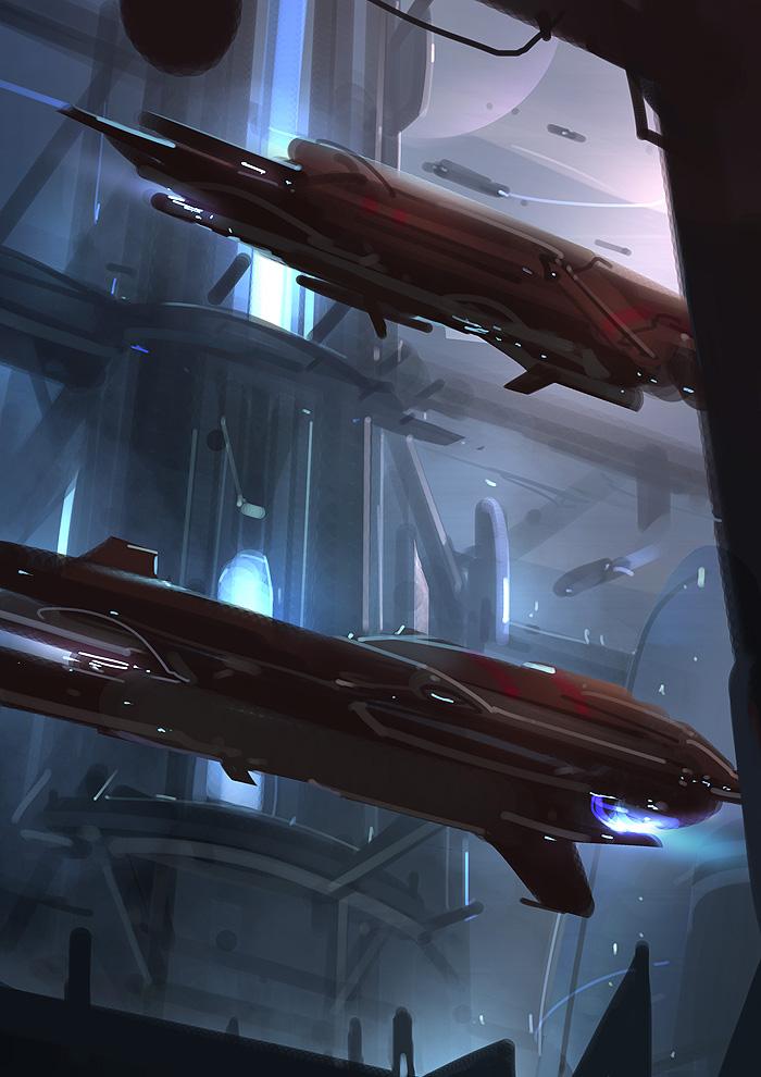 Hangar II - Red Lanterns by Hideyoshi