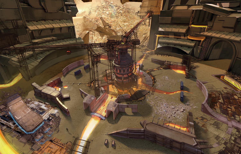Heavy Gear Assault - Arena interior by Hideyoshi