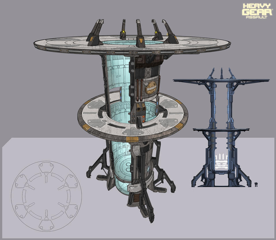 Heavy Gear Assault - Tower concept by Hideyoshi