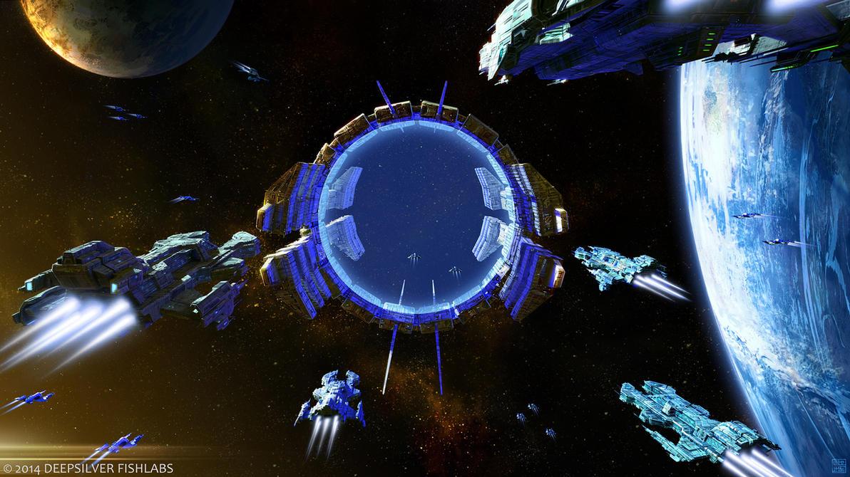 Galaxy on Fire: Alliances - Nivellian Jumpgate by Hideyoshi