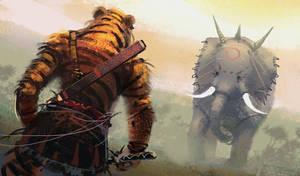 Tiger vs Elephant