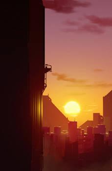 City Sunset by Hideyoshi