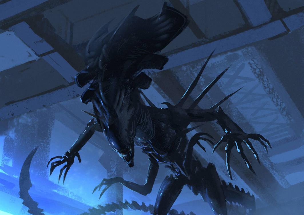 Alien Queen - RIP Giger by Hideyoshi