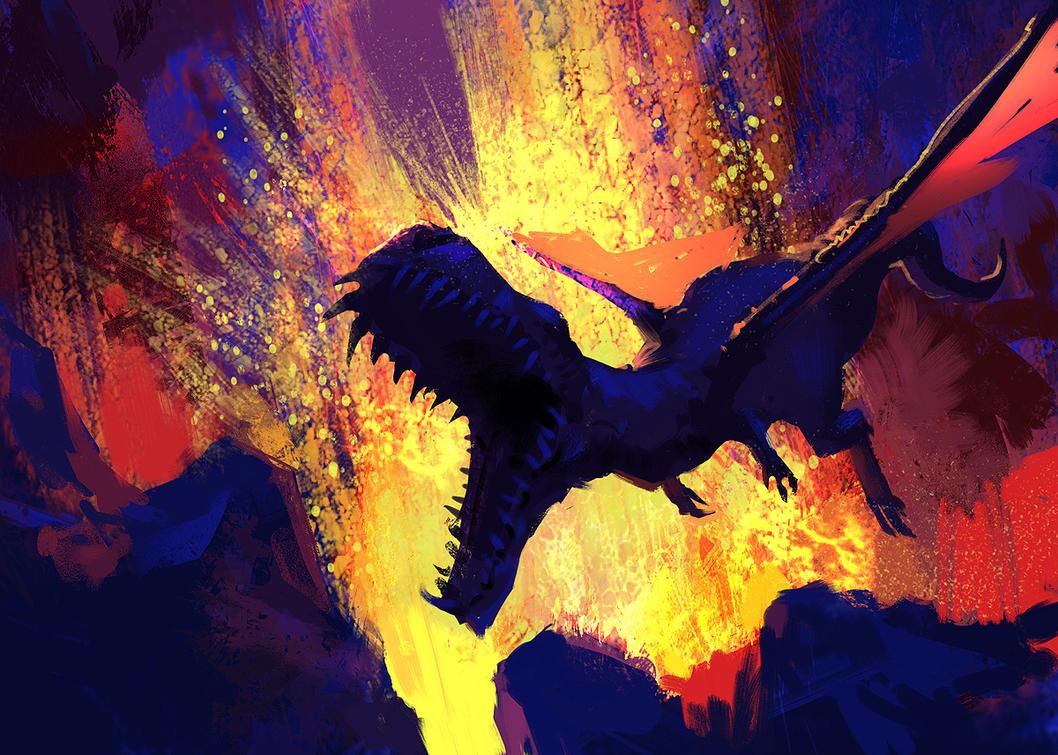 Magma Dragon by Hideyoshi