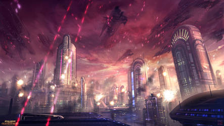 Star Wars The Old Republic - Coruscant bombing by Hideyoshi