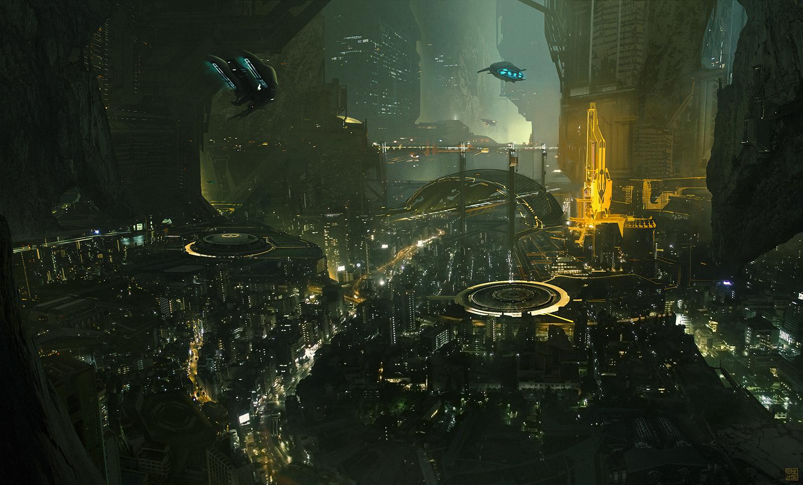 Eclipse Phase - Lunar Cave City