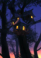 Treetop Cabin by Hideyoshi