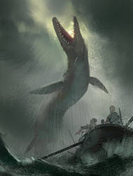 Monstrous Sea Creature by Hideyoshi