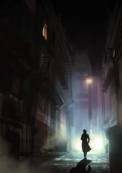 Noir Detective - video process