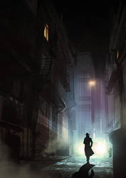 Noir Detective - video process by Hideyoshi