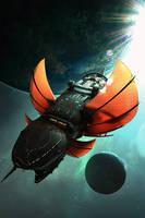 Dragon Quadrant - Sentinel 2 - Book Cover by Hideyoshi