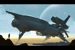 Rusty Starship by Hideyoshi
