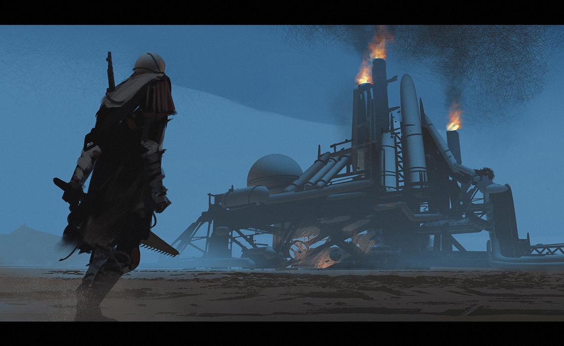 Desert Refinery by Hideyoshi
